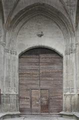 Eglise Saint-Vincent -  The doorway of the south porch (XVI century).