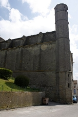 Eglise Saint-Vincent -  The signal turret is a blind tower built at the northwest corner of the collegiate church.
