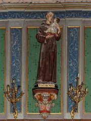 Eglise Saint-Vincent -  In the chapel of the Immaculate Conception, St. Anthony of Padua is represented holding the child Jesus in his arms because he had appeared while he was working or sleeping.