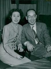 Maison -  Hideki Yukawa with his wife Simiko