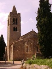Eglise Saint-Sernin - English: Saint Saturnin church (11th century), Pouzols-Minervois, Aude, France