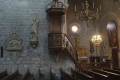 Ancienne abbaye Saint-Hilaire - Intérieur de l'église - Abbaye de Saint-Hilaire (Aude, Occitanie, France).