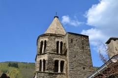 Eglise Sainte-Anne, située dans le village - Français:   Clocher de l\'église Sainte Anne, village de La Tourette-Cabardès, département de l\'Aude, France