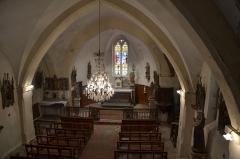 Eglise Sainte-Anne, située dans le village - Français:   Intérieur de l\'église de La Tourette (Aude, France)
