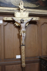 Chapelle des Pénitents-Blancs -  Processional cross, which was acquired in 1804 in Grimaud'shop, in Montpellier (18th century).