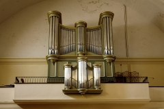 Grand Temple -  Gallery pipe organ..