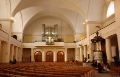 Grand Temple -  The Assembly Hall, and the recently restored tribune pipe organ.