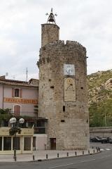 Tour de l'Horloge (reste des anciens remparts) - English: Clock tower in Anduze (Gard, France).