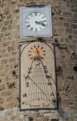 Tour de l'Horloge (reste des anciens remparts) - English: Sundial in Anduze (Gard, France).