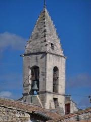 Eglise paroissiale Saint-Pancrace - Français:   clocher de l\'église d\'Aramon (30)