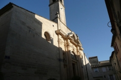 Eglise paroissiale Saint-Pancrace - Français:   Eglise en Aramon 2.