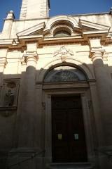 Eglise paroissiale Saint-Pancrace - Français:   Eglise en Aramon 4.