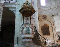 Eglise Notre-Dame-des-Pommiers - Français:   Chaire à prêcher en marbre polychrome