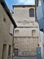 Eglise Notre-Dame-des-Pommiers - Français:   Frise romane de l\'église Notre Dame des Pommiers à Beaucaire (30)