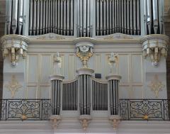 Eglise Notre-Dame-des-Pommiers - Français:   Construit en 1847 par les facteurs lyonnais Beaucourt et Voegeli dont il est le plus grand instrument.