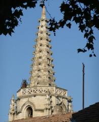 Eglise Saint-Paul, ancienne église des Cordeliers - Français:   clocher sommé d\'une flèche à crochets