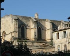 Eglise Saint-Paul, ancienne église des Cordeliers - Français:   Nef, façade sud avec le minuscule clocher du XVe siècle.