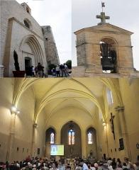 Eglise Saint-Saturnin -  Church at Calvisson at 14 June 2015 with lots of catholic beelievers