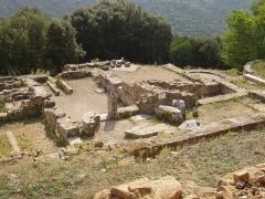 Oppidum préromain et gallo-romain -  Oppidum de Gaujac (Gard): les thermes