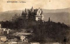 Château -  vue du chateau de Montdardier, carte postale ancienne
