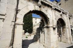 Porte d'Arles dite d'Auguste -  Ctre Ville, Nîmes, France