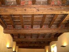 Hôtel de Piolenc, dit Maison des Chevaliers - Français:   Maison des chevaliers, Pont-Saint-Esprit, Gard, France. Plafond peint de la salle d\'apparat du rez-de-chaussée, XVeme siècle.