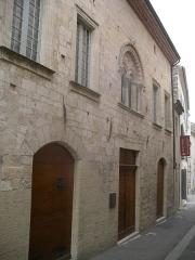 Hôtel de Piolenc, dit Maison des Chevaliers - English:   front of the sacred art museum in Pont-Saint-Esprit (Gard), Rhone valley, France
