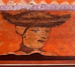 Hôtel de Piolenc, dit Maison des Chevaliers - Français:   Portrait du Dauphin Charles, fils de Charles VI et d\'Isabeau de Bavière, dans la Maison des Chevaliers de Pont-Saint-Esprit, 1450,