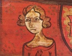 Hôtel de Piolenc, dit Maison des Chevaliers - Français:   Portrait de femme (Isabeau de Bavière?), dans la Maison des Chevaliers de Pont-Saint-Esprit en 1450