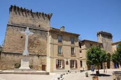Porte de ville fortifiée -  Ancient buildings in Remoulins Gard district France