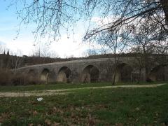 Pont Charles-Martel sur la Cèze - English: La Roque-sur-Cèze - Charles-Martel bridge - general view