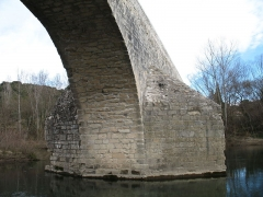 Pont Charles-Martel sur la Cèze - English: La Roque-sur-Cèze - Charles-Martel bridge - detail