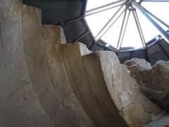 Ancienne abbaye de Saint-Gilles -  Vis St Gilles ,voute de l'escalier.