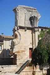 Ancienne abbaye de Saint-Gilles - Deutsch: Abteikirche St-Gilles, Treppenturm im ehem. Chor
