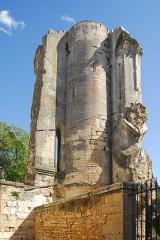 Ancienne abbaye de Saint-Gilles - Deutsch: Abteikirche St-Gilles, Treppenturm von außen