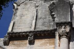 Ancienne abbaye de Saint-Gilles - Deutsch: Ehemalige Abteikirche Saint-Gilles in Saint-Gilles-du-Gard, einer Gemeinde im Département Gard in der französischen Region Languedoc-Roussillon, Ruinen der Oberkirche
