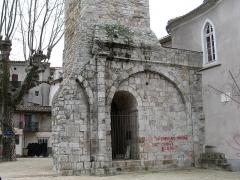 Ancienne église - English: Clock tower of Saint-John-Baptist church in Saint-Jean-du-Gard
