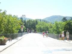 Pont sur le Gardon -  The station building in Saint-Jean-du-Gard. It serves the fr:Train à vapeur des Cévennes.  Pont over the Gardons de Saint Jean