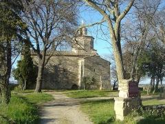 Chapelle Notre-Dame-de-Mayran - Français:   Chapelle de Mayran et écriteau sur l\'histoire à l\'entrée