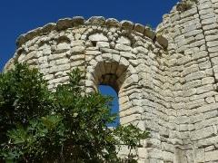 Ruines de l'église Saint-Geniest et pinède avoisinante - Français:   Église Saint-Géniès de Uzès
