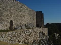 Ruines du Castellas - Français:   Castellas de Saint-Victor  la Coste (Gard, 30). Enceinte arrière du château.