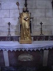 Eglise paroissiale Saint-Sauveur, ancienne abbatiale - Français:   Aniane (Hérault, Fr) église,statue St. Benoît d\'Aniane