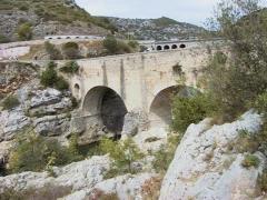 Pont sur l'Hérault, dit Pont du Diable (également sur commune de Saint-Jean-de-Fos) -  Pont du Diable over the Hérault River, France