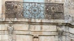 Ancien château -  Assas (Herault, France), Assas Castle, wrought iron balcony.