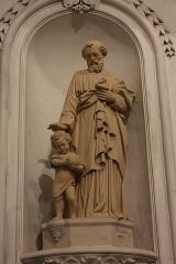 Ancienne abbaye Saint-Aphrodise - Français:   Intérieur de la Basilique Saint-Aphrodise de Béziers: Statue d\'un saint de Malacan, 1873.