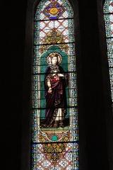 Ancienne abbaye Saint-Aphrodise - Français:   Intérieur de la Basilique Saint-Aphrodise de Béziers: Vitrail du 19e siècle.