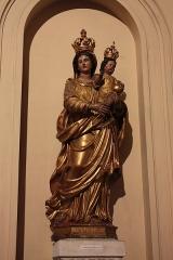 Ancienne abbaye Saint-Aphrodise - Français:   Intérieur de la Basilique Saint-Aphrodise de Béziers: Vierge à l\'enfant. Bois doré du 17e siècle.