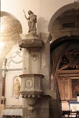Ancienne abbaye Saint-Aphrodise - Français:   Intérieur de la Basilique Saint-Aphrodise de Béziers: Chaire en marbre blanc.