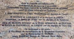 Chapelle des Pénitents Bleus - Français:   Plaque, Chapelle des Penitents Bleus, Beziers.
