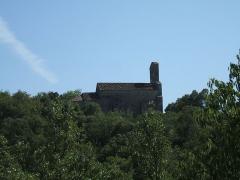 Chapelle Saint-Etienne d'Issensac - English: Saint-Etienne d'Issensac Chapel (Chapelle Saint-Etienne d'Issensac), located near the town of Brissac (département of Brissac, Languedoc-Roussillon région, France): northern view